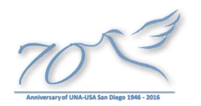 Anniversary of San Diego ChapterLinking UN with San Diego & San Diego with UN